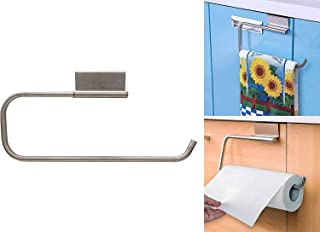My Pick ae Paper Towel Holder   Tissue Holder   Metal Over the Cabinet Holder   Easy to Install   Door Hanging on Cabinet...