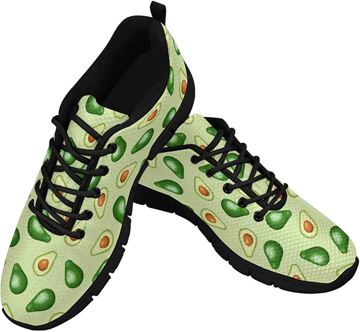 InterestPrint Cute Avocado Sneaker Women's Cheap New products, world's highest quality popular! bargain Breathable