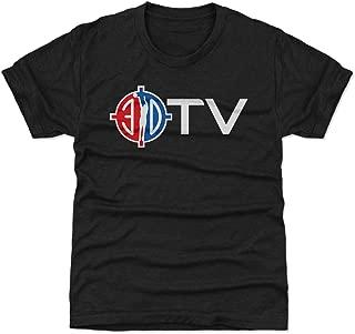 500 LEVEL Orlando Basketball Youth Shirt - Kids Small (6-7Y) Tri Black - 3D TV WHT