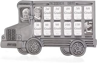 Koehler 35239 12.5 Inch Gray School Bus Photo Frame