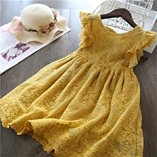 Cute Girls Dress New Summer Girls Clothes Flower Princess Dress Children Summer Clothes Baby Girls Dress Casual Wear