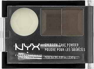 Kit para cejas Eyebrow Cake Powder, Nyx Professional Makeup ,Tono Dark Brown/Brown, 2.6g