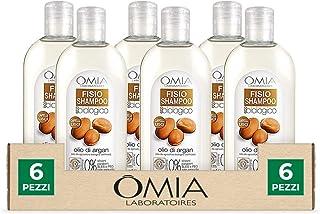 Omia, Fisio Shampoo Nutriente e Lisciante per Capelli Secchi e Crespi e Cuoio Capelluto Delicato, Ecobio Olio di Argan - D...