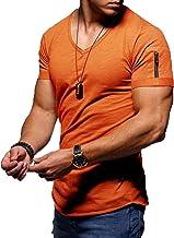 LaiYuTing V-hals Slim Bottoming Shirt Zomer Casual T-shirt heren korte mouw
