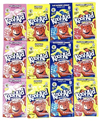 Kool-Aid Drink Mix Packets Variety Pack of 4 Lemonade Flavors (3 of each flavor, Total of 12)