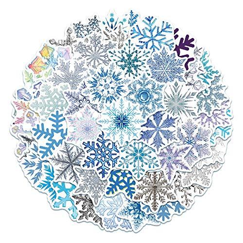 VCHSH Copos de Nieve de Navidad, Sala de la Ventana, Sala de la Ventana, Pegatinas Decorativas Impermeables, Decoración navideña, 50 Hojas