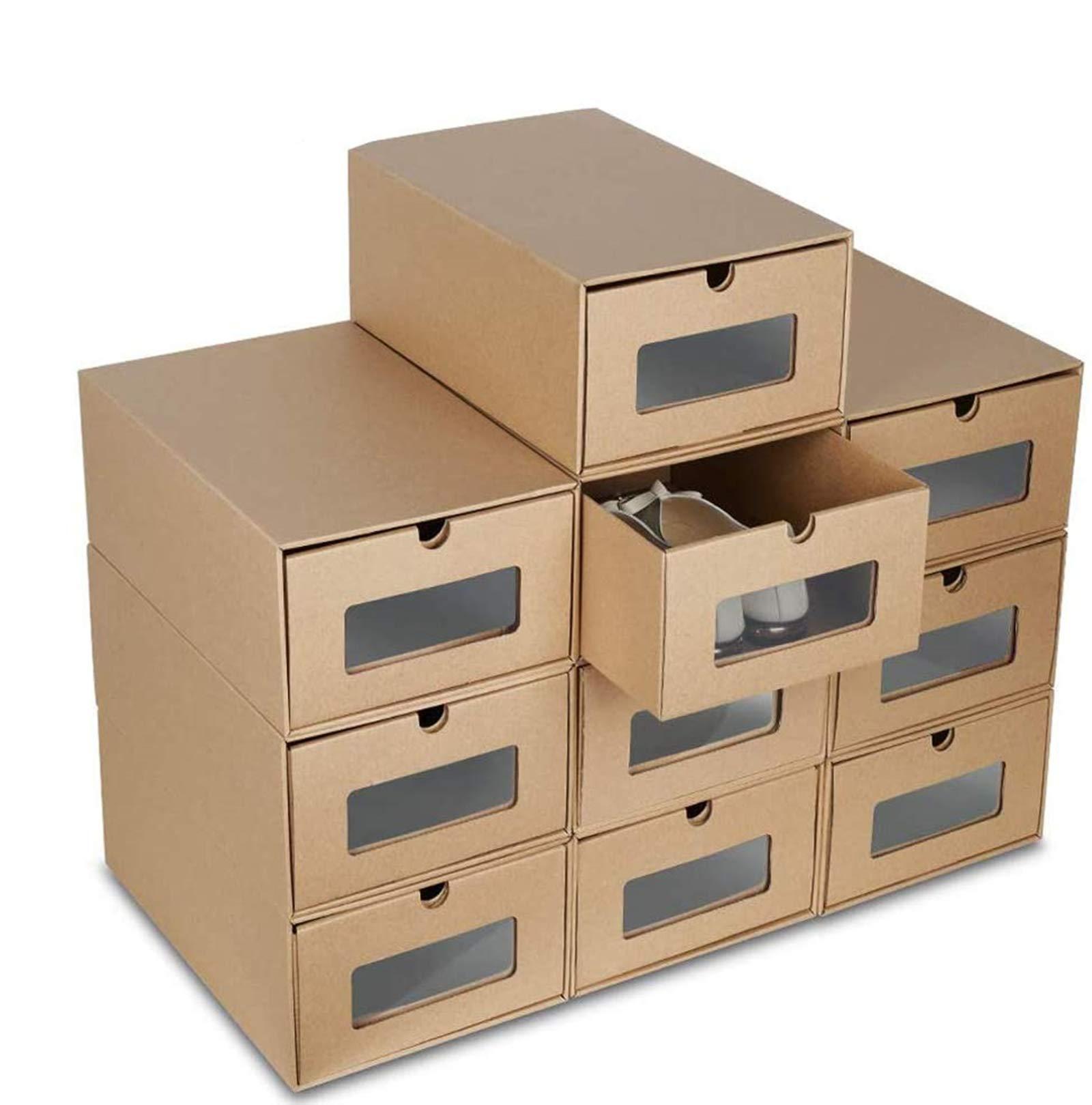 Blackpoolaluk 20PCS Shoe boxes,Drawer Type Stackable Shoe Storage ...