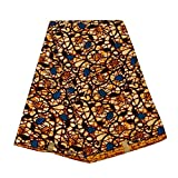 African Fabric Premium 6 Yards Ankara Print Fabric 100% Polyester for Party Dress