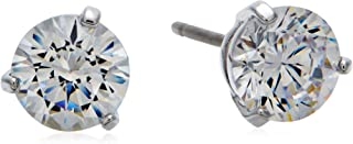 Swarovski Women's White Rhodium plated Solitaire Pierced Earrings 1800046