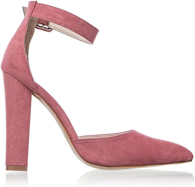 Heeled-Sandalswoman High Heels Wedding shoes Strap Heels Classic Heeled Sandals 12Cm Ladies Red Platform Pumps 014C1734-35,Pink,7.5