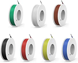 20 awg Silicone Electrical Wire Cable 7 Colors (23ft Each) 20 Gauge Hookup Wires Electronics kit Stranded Tinned Copper Wi...