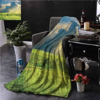 Minky Blankets, for Bed Couch Chair Super Soft Premium Blanket for Picnic,Beach,AC Room,Travel, Outdoor, Decorative, Nature | Summer Spring Rural - 32