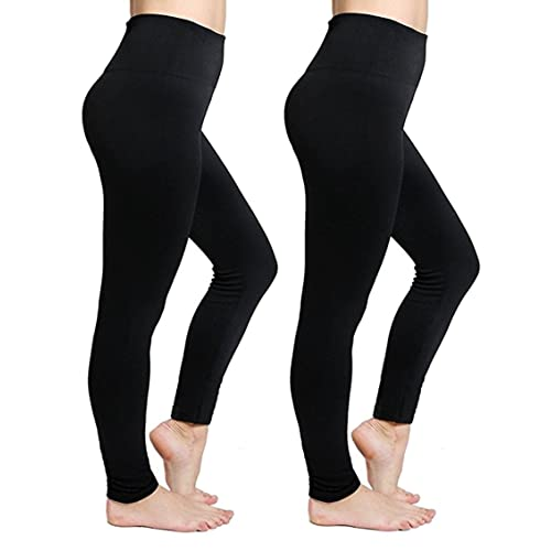 853eab83e48a2 CakCton Womens Fleece Lined Leggings High Waist Buttery Soft Stretchy Warm  Best Leggings
