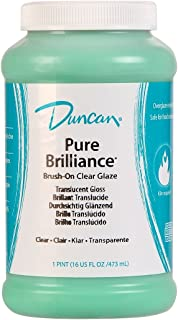 Duncan Pure Brilliance Clear Glaze brush-on glaze 16 oz. jar