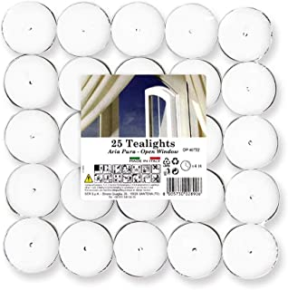 Cocod'or Scented Tealight Candles 25 Pack, Open Window, 5-8 Hour Extended Burn Time, Made in Italy