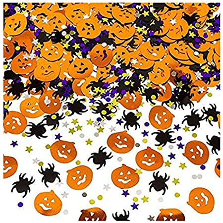 K/ürbisse Spinnen Flederm/äuse Hexen Bimkole Halloween Konfetti Tischstreuung 100g Dekorationen Plastikmischung Konfetti f/ür Halloween Party Haunted House Favor Dekoration Zubeh/ör