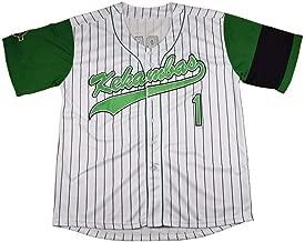 QimeiJer Custom G-Baby Jarius Evans Hardball Kekambas #1 Movie Baseball Jerseys with Name&No.
