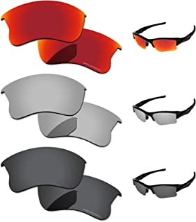 PapaViva Polarized Lenses Replacement for Oakley Flak Jacket XLJ 3 Pairs Packed