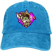 Lisa Cave Little Cute Girl Rabbit Vintage Adjustable Baseball Cap Denim Dad Hat
