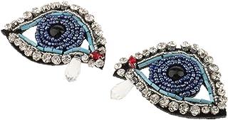 comprar comparacion MagiDeal 2pcs Cuentas de Diamantes Imitación Apliques Parche de Bricolaje Adorno Costura