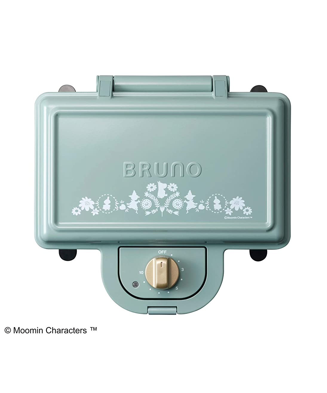 BRUNO ホットサンドメーカー ダブルサイズ ムーミン ブルーグレー 耳まで焼ける