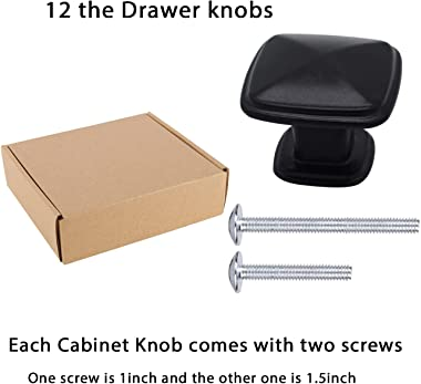 Drawer Knob-Cupboard Knobs Dresser knobs Cabinet Door knobs Decorative knobs Square Cabinet Door Knobs 24 Pack
