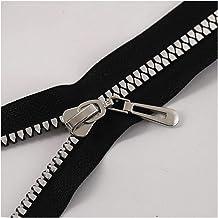 Jinggege 80cm No.8# Hars Ritsen Metal Zipper Slider Multi-color Tanden Coat Scheiden Beneden ritsen for DIY naaien Crafts ...
