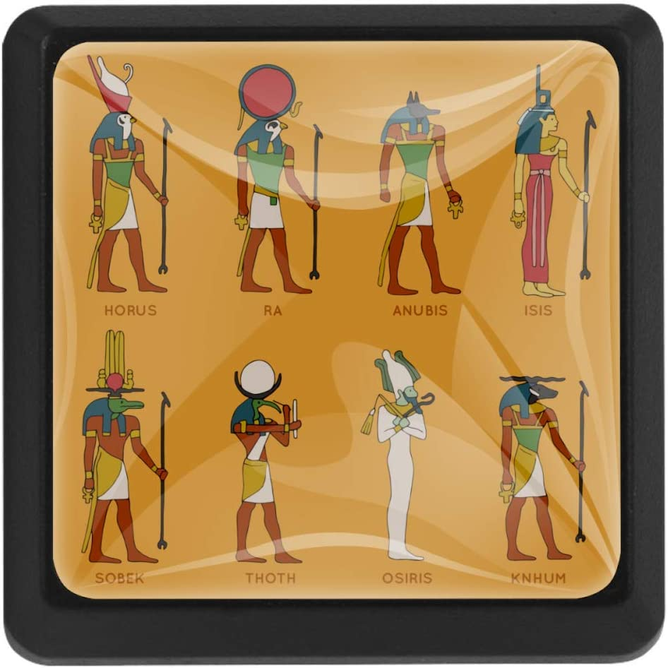 Shiiny Egyptian OFFer Gods Collection 5 ☆ very popular Square Knobs Drawer Handle Pulls