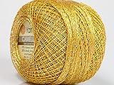 Bright Gold Silver Metallic Braid Thread Camellia - 20 Gram