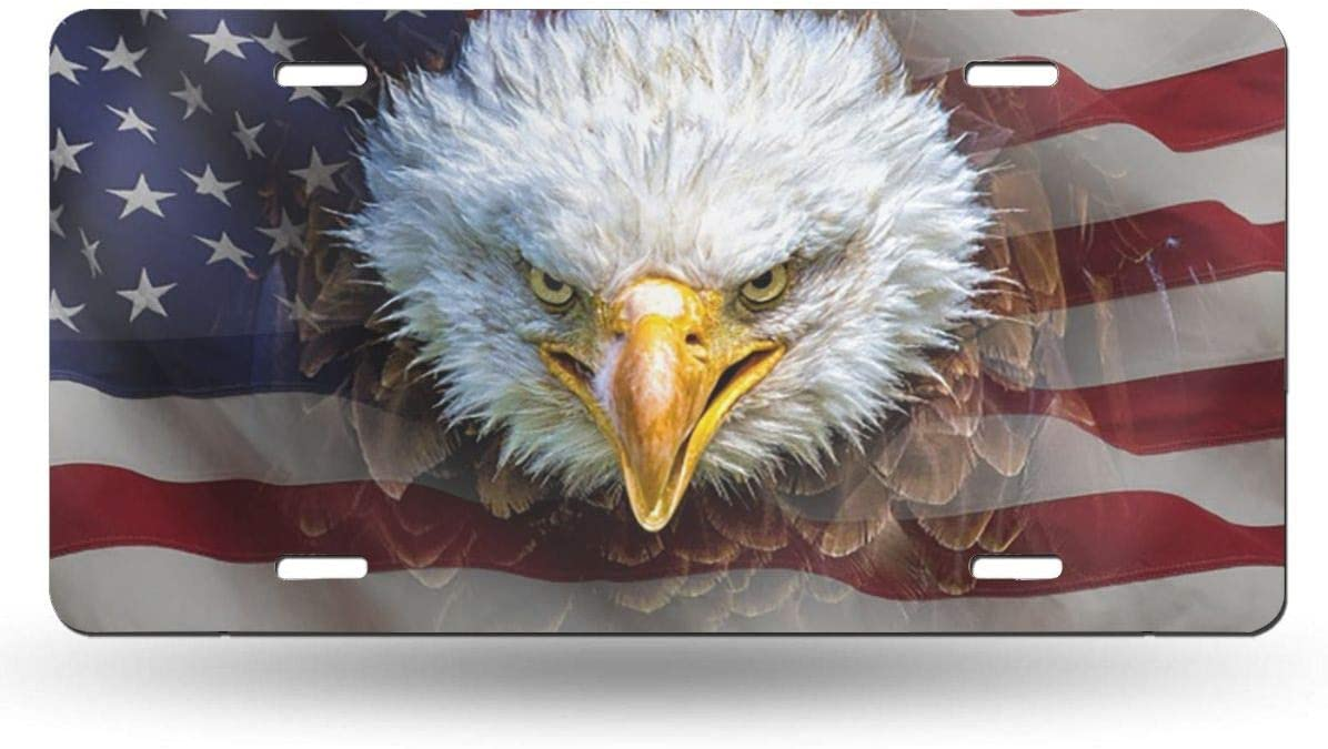Popular product Kiuloam North American Bald Eagle Flag 12x6 Lic Bombing free shipping on Inch