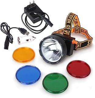 Kohree New 8W 4400mAh Dimmable LED Miner Headlamp Mining Hunting Camping Head Light Waterproof IP68