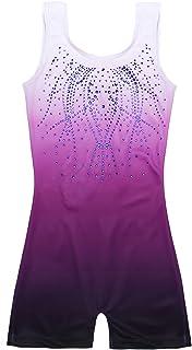 Zaclotre Kid Girls Gymnastic Leotard Sparkly Shiny Diamond Ballet Dance One Piece Outfit