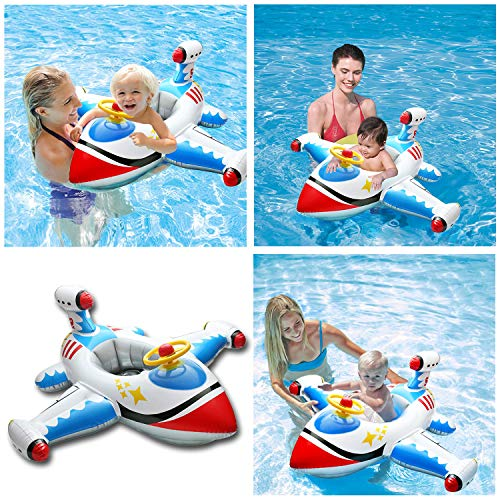 Baby Inflatable Swimming Rings, Airplane Yacht Baby Kids Toddler Infant Swimming Float Lluxury Seat...
