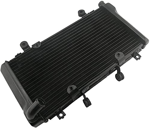 new arrival Mallofusa Motorcycle Aluminum Cooling Radiator Cooler discount Compatible for Honda CBR400 MC23 outlet online sale Black online