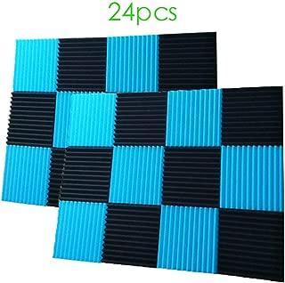 24 Pack- Black/Blue Acoustic Panels Studio Foam Wedges 1