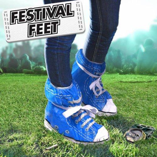 Pieds des festivals - couvre-chaussures - couleurs aléatoires.