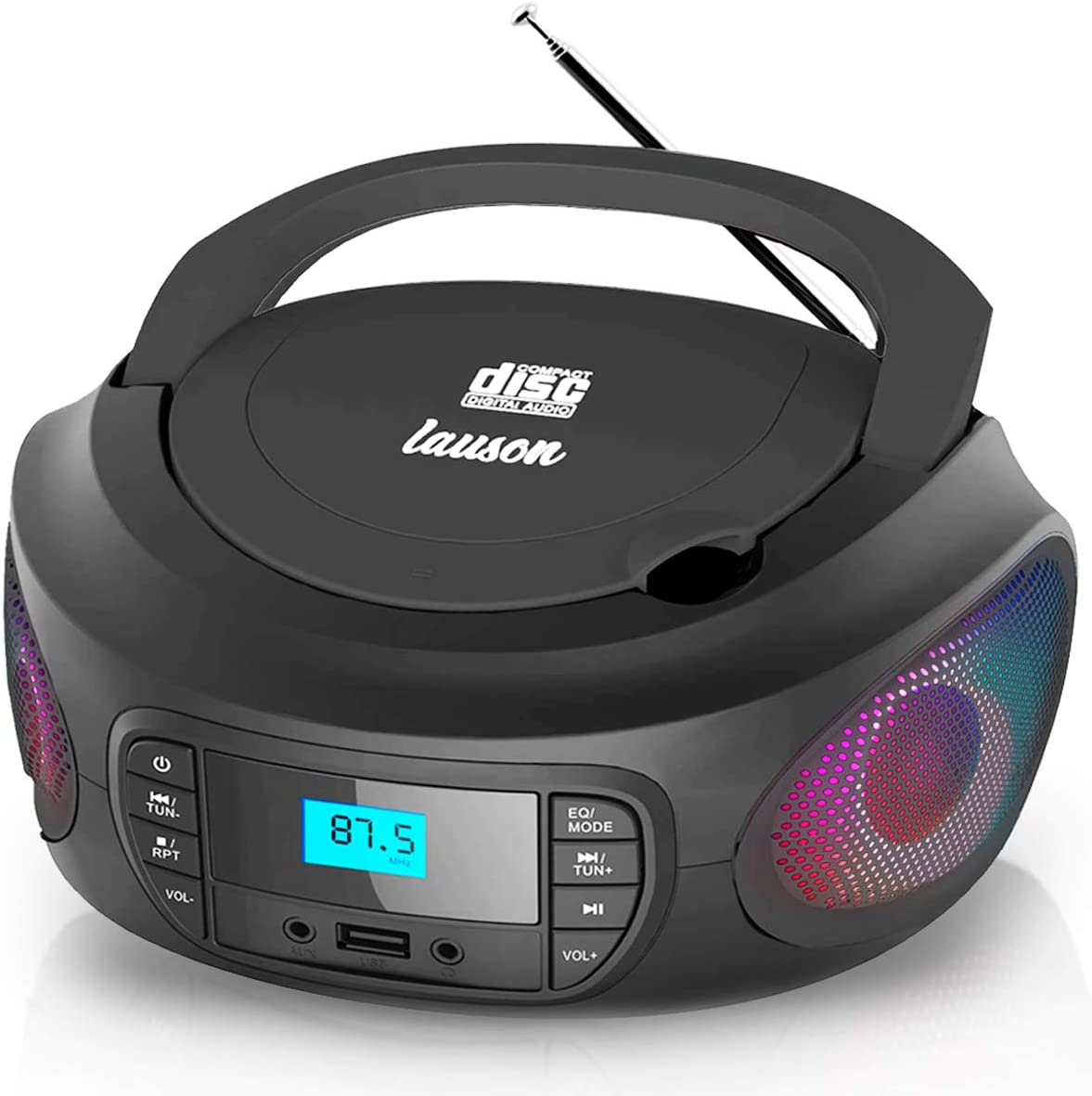 Lauson Superior Woodsound LLB598 Portable Low price CD with Speakers Small Player
