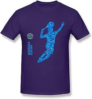 JRZJ Men's Roger Federer Artwork Wimbledon Championships T Shirt