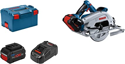 Bosch Professional BITURBO GKS 18V-68 C - Sierra circular a batería (18V, disco Ø 190 mm, conectable, 2 baterías ProCORE x 5.5 Ah, en L-BOXX)