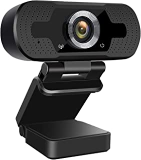 1080P Webcam with Microphone, USB 2.0 Webcam for PC Desktop Computer Laptop, Web Camera for Windows Mac OS, for Online Teaching,Studying, Video Calling and Recording, Conference