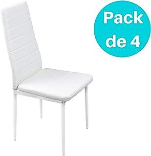 Noorsk Design Pack de Cuatro sillas de Comedor o Cocina