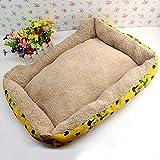 MWPO Kennel Pet Nest Teddy Poodle Cama para Perros Perro pequeño Cachorro de Invierno Suministros para perros58 * 40Cm Amarillo
