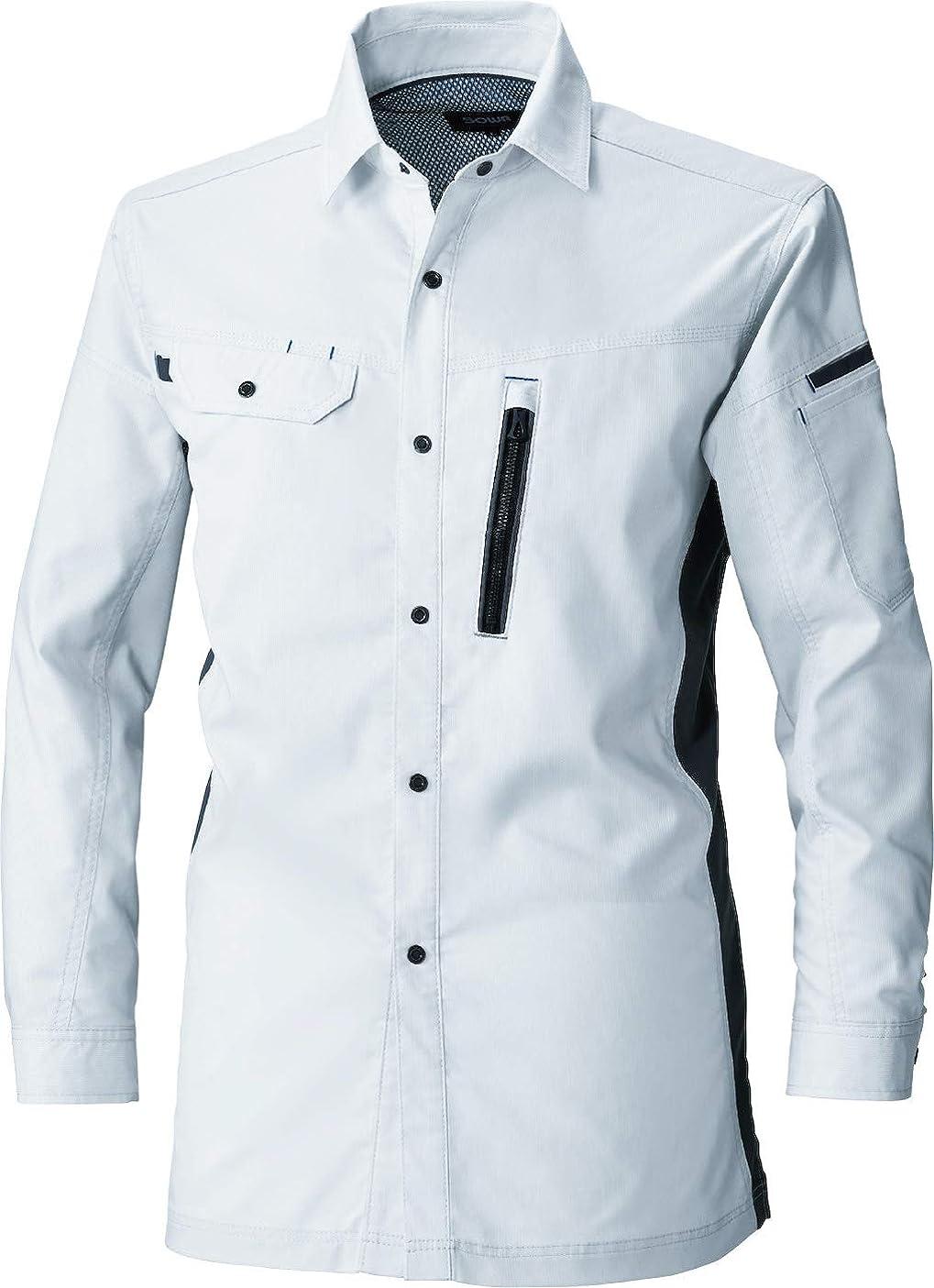 単に性的精巧な桑和 sw-3018-02-b 長袖シャツ (22:シルバーグレー/6L)