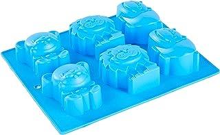JoyGlobal 6 Cavity Animal Lion Bear Hippopotamus Silicone Soap Cake Pudding Cookie Jelly Chocolate Mould Baking Mold (Soap...