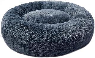 PaWz Pet Bed Cat Dog Donut Nest Calming Kennel Cave Deep Sleeping Dark Grey L