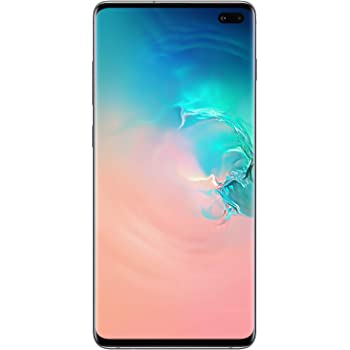 Samsung Galaxy S10+Factory Unlocked Android Cell Phone | US Version | 1TB of Storage | Fingerprint ID and Facial Recognition | Long-Lasting Battery | Ceramic White