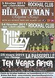 Bill WYMAN'S Rhythm Kings Thin Lizzy Ten Years After