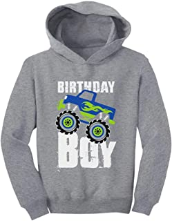 Tstars Birthday Boy Gift for Boys Big Truck Birthday Toddler Hoodie