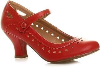 032f3e69d9c87c Chaussures Escarpins Babies Classique cœur découpée Femmes Petit Talon  Taille