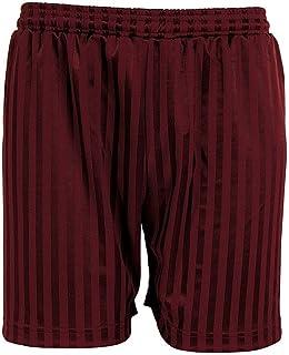 ND Sports Shadow Stripe School Pe Shorts 3-Piece Set for 5-6 Years, Maroon, NUNQ-PE SHDW-Short Mar 5-6 PK3